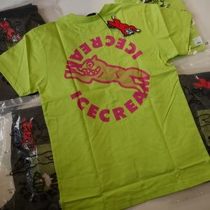 BBC ICE CREAM Spiral Lime Double Sided T-shirt